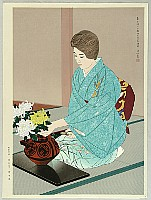 Shinsui Ito 1898-1972 - Kasumi - Flower Arrangement