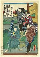 Kunisada Utagawa 1786-1865 - List of Titles of Dance Forms - Odori Keiyo Gaidai Zukushi - Banner