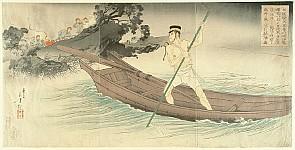 Toshikata Mizuno 1866-1908 - Sino-Japanese War - Escape