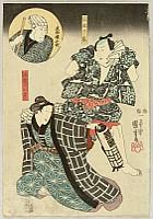Kuniyoshi Utagawa 1797-1861 - Lovers -  Kabuki