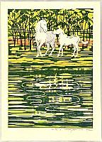 Fumio Fujita born 1933 - White Horses A