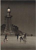 Kiyochika Kobayashi 1847-1915 - Rainy Day at Kudan