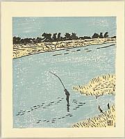 Kihachiro Shimozawa 1910-1986 - Angler