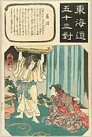 Kuniyoshi Utagawa 1797-1861 - Fifty-three Parallels of the Tokaido - Tokaido Goju-san Tsui - Fujisawa