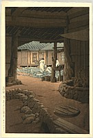 Hasui Kawase 1883-1957 - Chunum Temple on Mt. Chiri - Korean Views Supplement