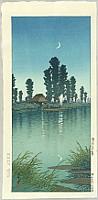 Hasui Kawase 1883-1957 - Evening at Itako