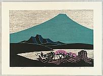Yoshio Kanamori born 1922 - Mt. Fuji, Lake, Summer Flower