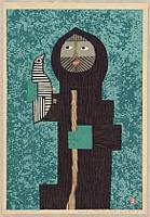 Umetaro Azechi 1902-1999 - Mountain Man and Bird