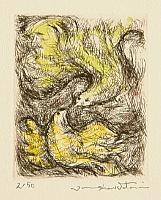 Junsuke Watarai born 1936 - Parent and Offspring - Bird