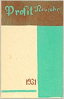 Koshiro Onchi 1891-1955 - New Year's Day Greeting Design - Profit