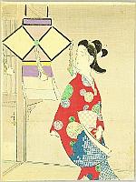 Toshimine Tsutsui 1863-1934 - Colorful Ornament - Kuchi-e