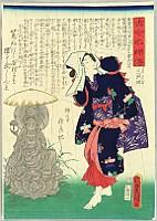 Kunisada Utagawa 1786-1865 - Famous Women Today and in the Past - Kokin Meifu Den - Princess Tamateru