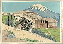 Tomikichiro Tokuriki 1902-1999 - Thirty-six Views of Mt. Fuji - Water Wheel