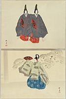 Kogyo Tsukioka 1869-1927 - Noh Ga Taikan - Futari Shizuka and Suma Genji