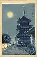 Benji Asada 1899-1984 - Moon over Kiyomizu Temple